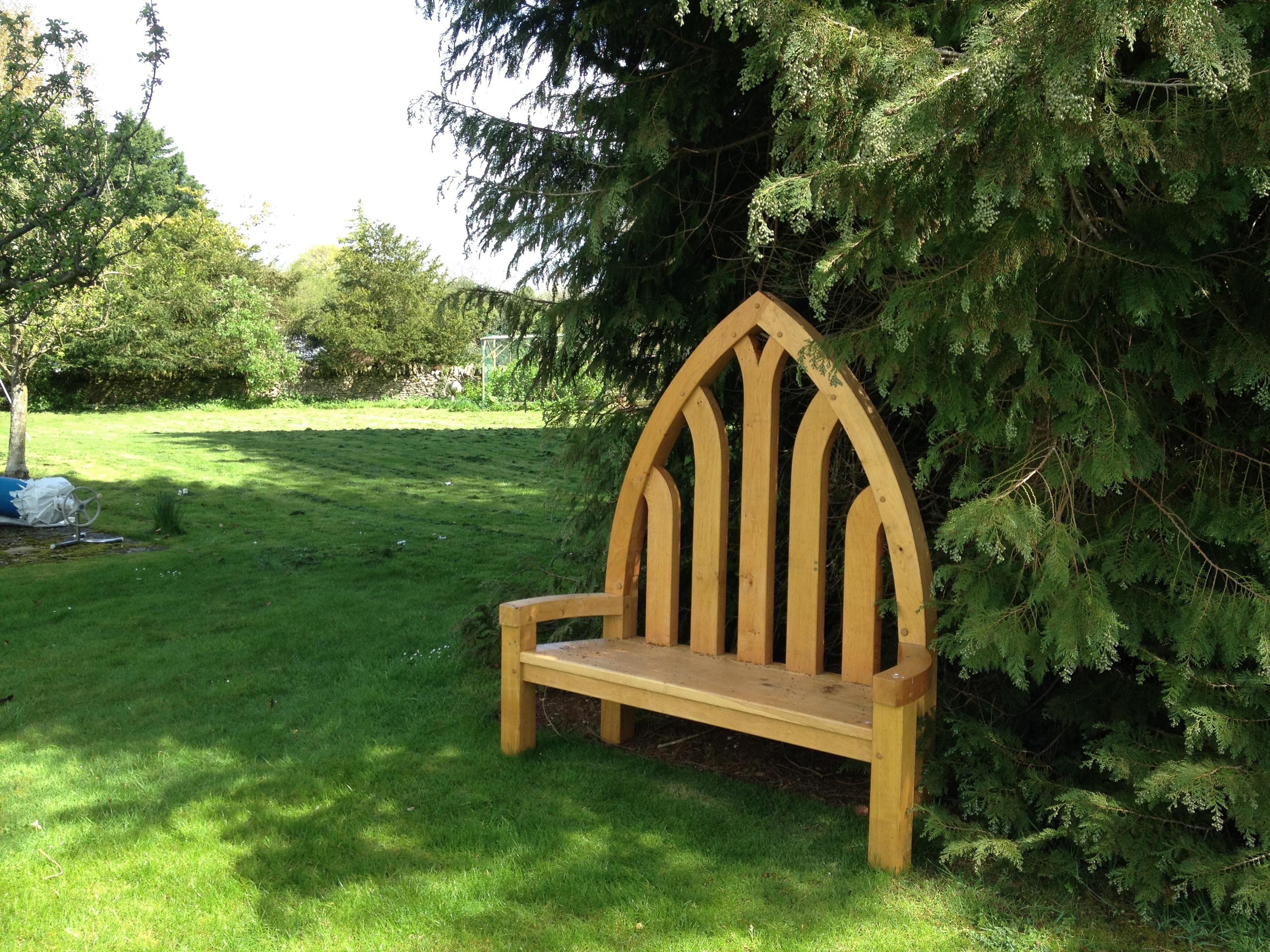 unusual outdoor furniture. Oak Frame Garden Bench Gothic Unusual Outdoor Furniture S