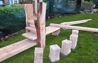 natural play equipment, school